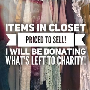 Tops, dresses, sweaters, shoes!